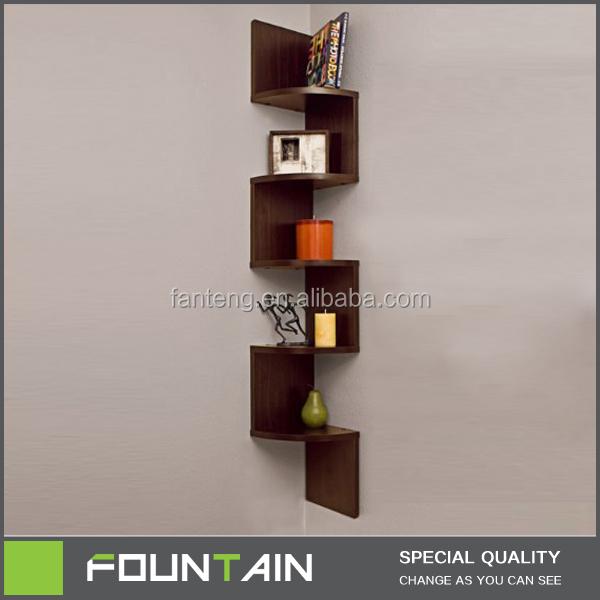 bibliotheque d angle moderne en bois etagere murale en noyer noir zig zag buy etagere murale etagere en zigzag etagere murale product on alibaba com