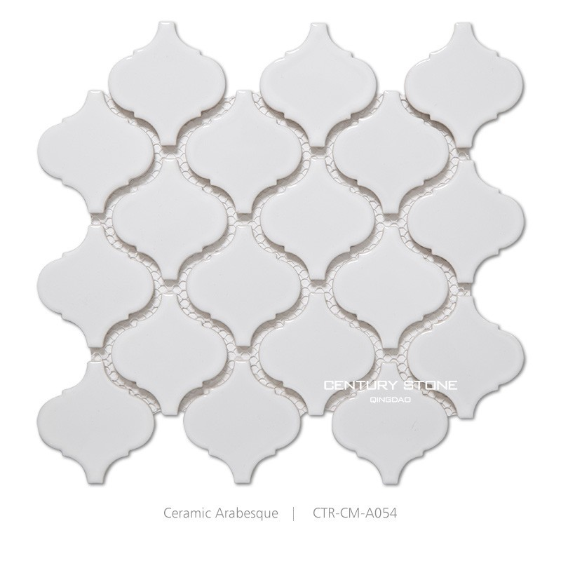 white arabesque pattern ceramic mosaic tile for decoration bathroom buy arabesque mosaic tile ceramic mosaic tile kitchen and bathroom wall tile