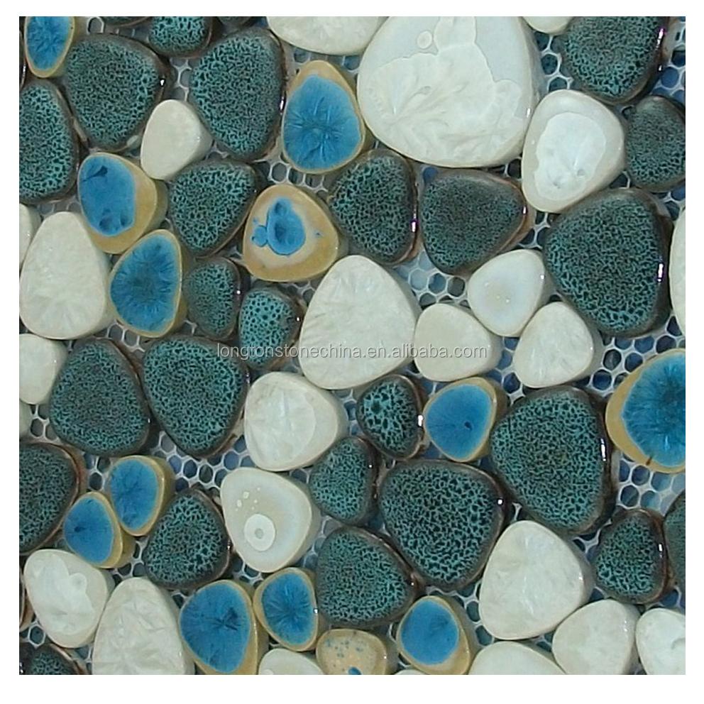 glazed porcelain floor glass blue pebble mosaic tile for kitchen algeria ceramic tiles buy algeria ceramic tiles porcelain floor pebble mosaic tile