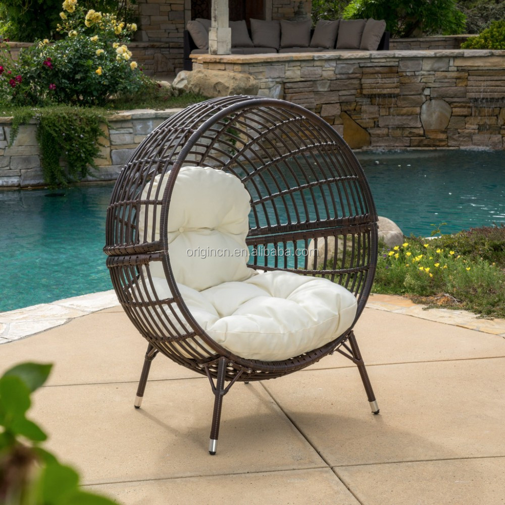airy ball shaped cane outdoor balcony furniture plastic wicker round lounge chair buy round lounge chair ball chair plastic chair cane product on