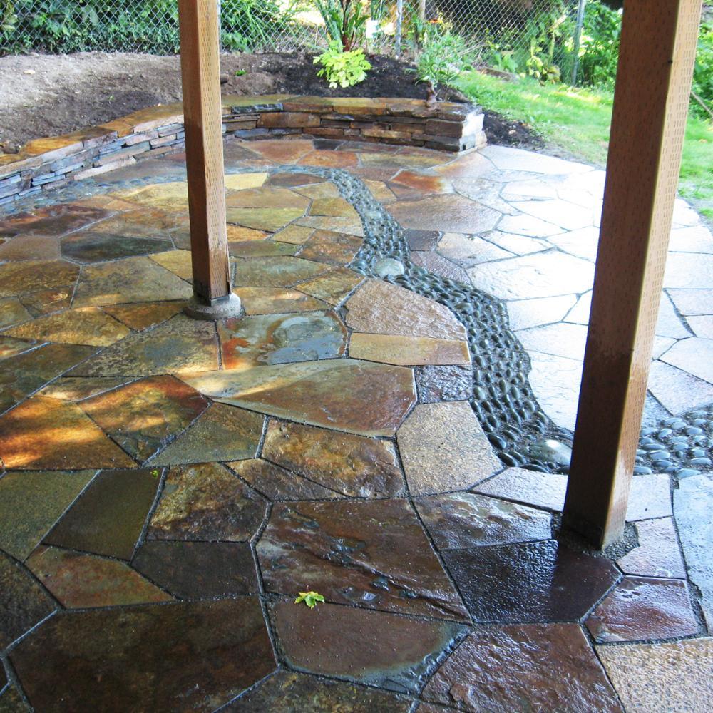 pierre breloque en ardoise roussee pierre naturelle pour sol de jardin patio buy dalle d ardoise pierre naturelle pierre de patio product on