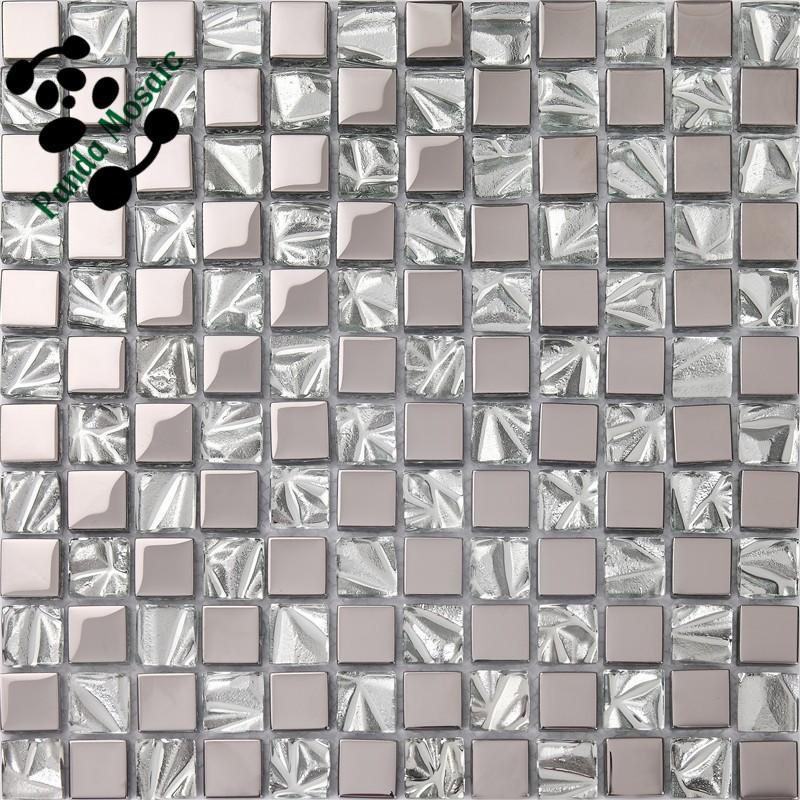 smp07 foshan leaf pattern ceramic tiles mix golden foil mix plating mosaic with metal frame mosaic wall decoration mosaic buy wall decoration