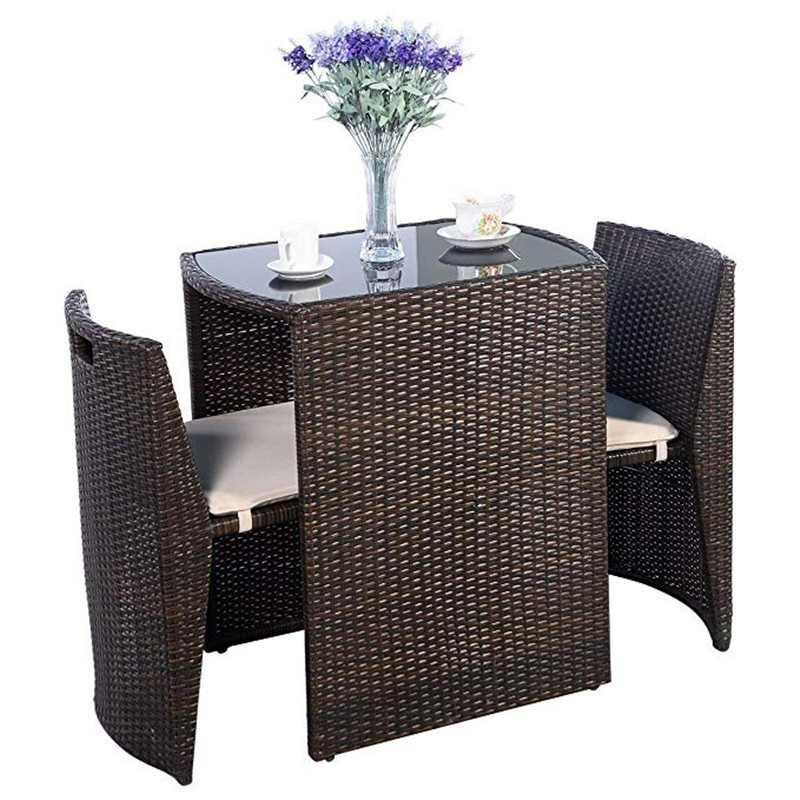 3 pcs outdoor rattan wicker 2 chair table set cushioned patio set convention bistro set garden lawn sofa furniture brown buy garden table garden chair garden table chair product on alibaba com