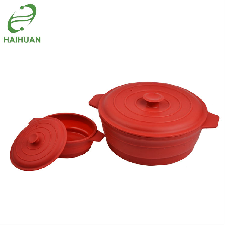hot silicone microwave collapsible steamer pot bowl with lid for camping buy silicone steamer pot silicone collapsible pot microwave steamer product