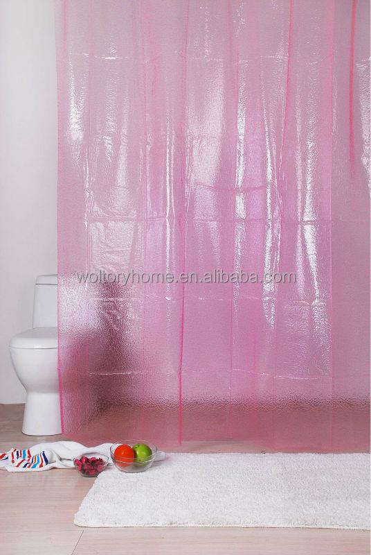 solid pink 3d eva shower curtain plastic transparent shower curtains buy solid pink 3d eva shower curtain plastic transparent shower curtains 3d eva