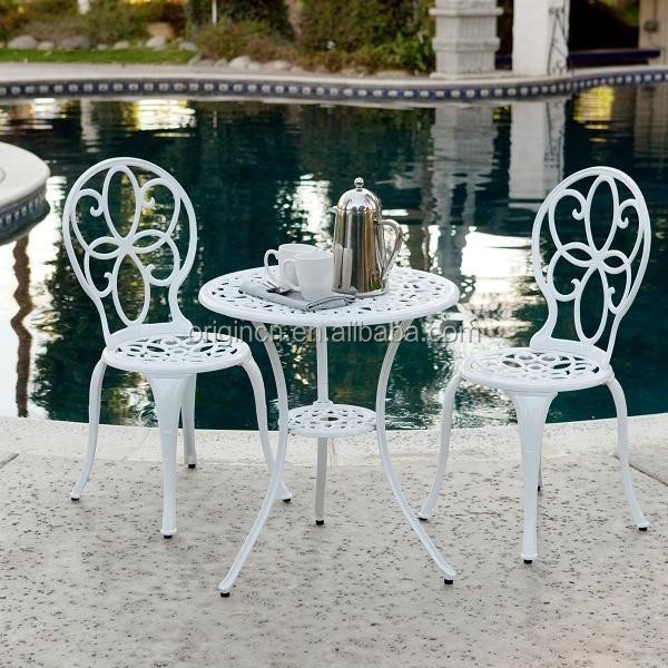 italian white elegant outdoor patio wedding decorative furniture set cafe table and aluminium garden chair buy aluminium garden chair italian patio