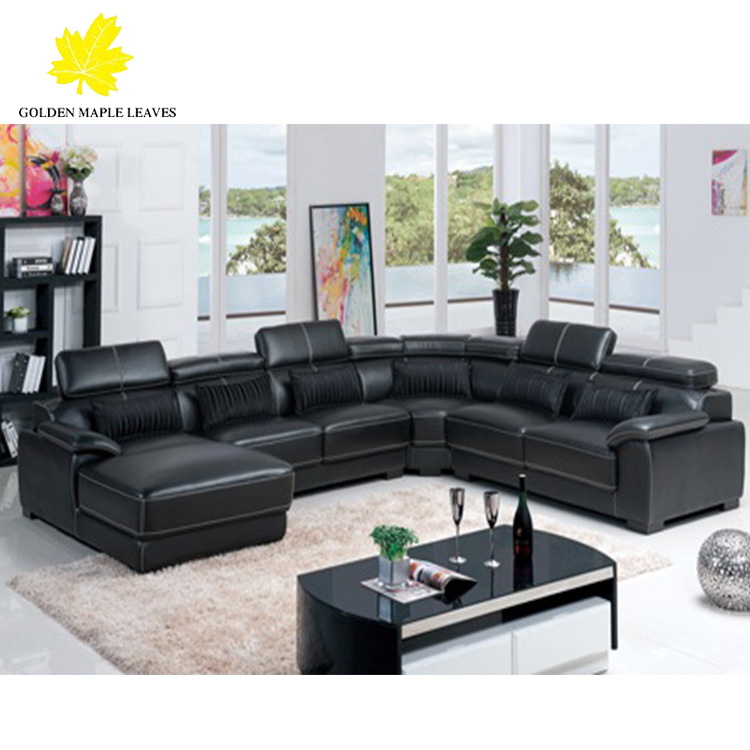 baochi black leather sectional sofa couch 953 buy sectional leather sofas leather sectional couch leather sectional furniture product on