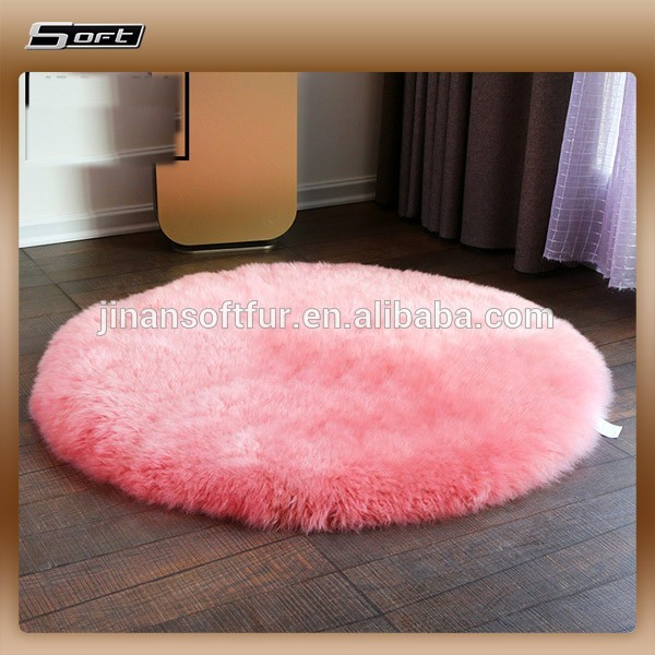 100 rond en peau de mouton veritable rose tapis de fourrure buy tapis en fourrure tapis en fourrure de mouton tapis en fourrure de mouton rose