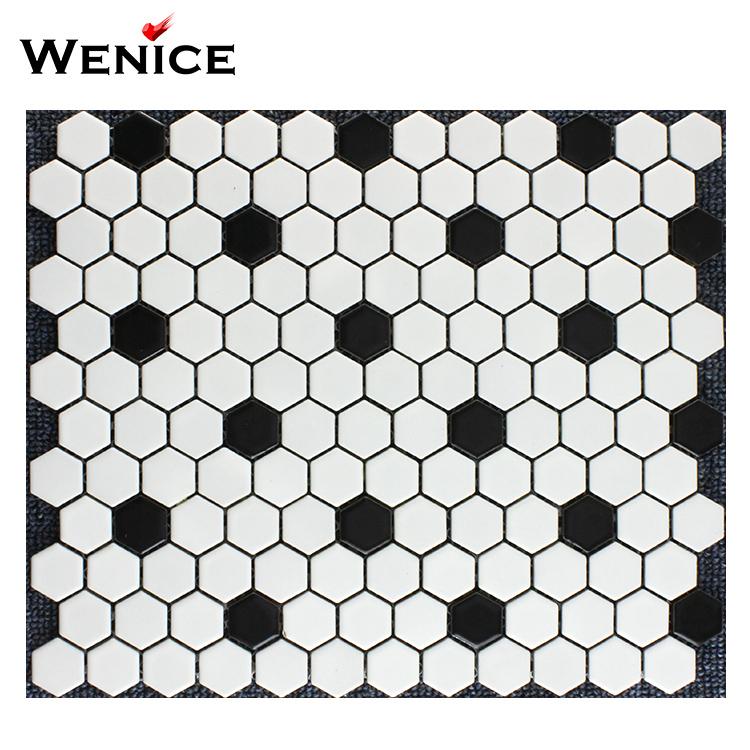 black and white mosaic tiles ceramic mosaic tile hexagon tile buy black and white mosaic tiles glazed hexagon tile matt glazed tile product on