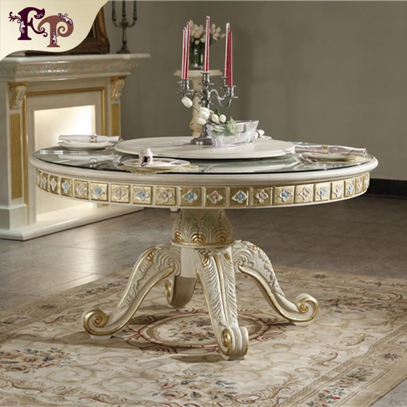 costume de table pour la chaise ensemble de meubles de salle a manger sculpte a la main style baroque classique italien en bois massif buy europeen