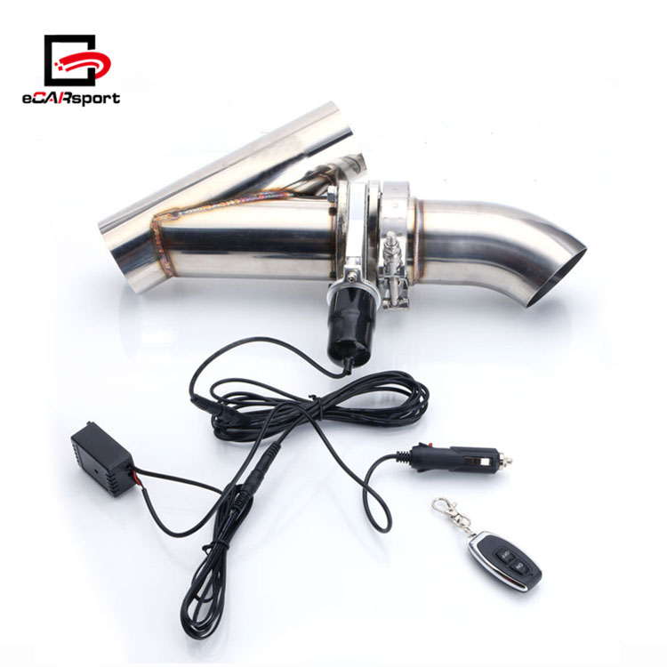 ecarsport 3 inch exhaust system electric valve exhaust cutout pipe kit buy electric valve cutout 3 3 inch exhaust cutout 3 electric exhaust cutout