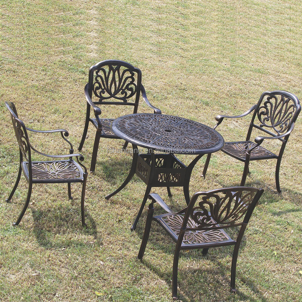 heavy duty dining table and chairs white bronze anodized aluminum outdoor metal patio furniture buy patio furniture metal outdoor white aluminum
