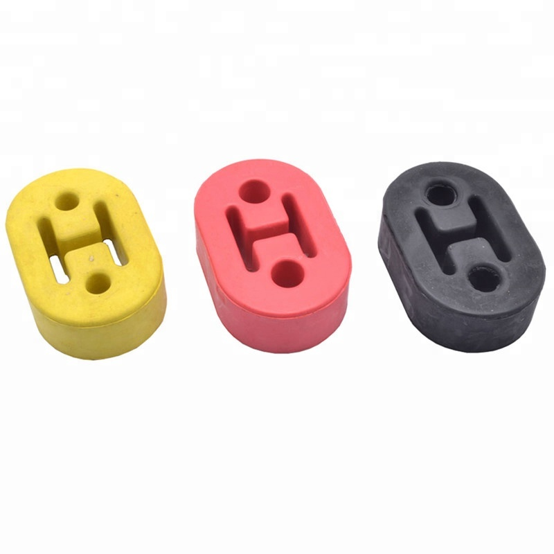 universal poly urethane adjustable muffler exhaust hanger 2 4 holes pipe yellow black red blue muffler hanger lug pad buy poly urethane adjustable