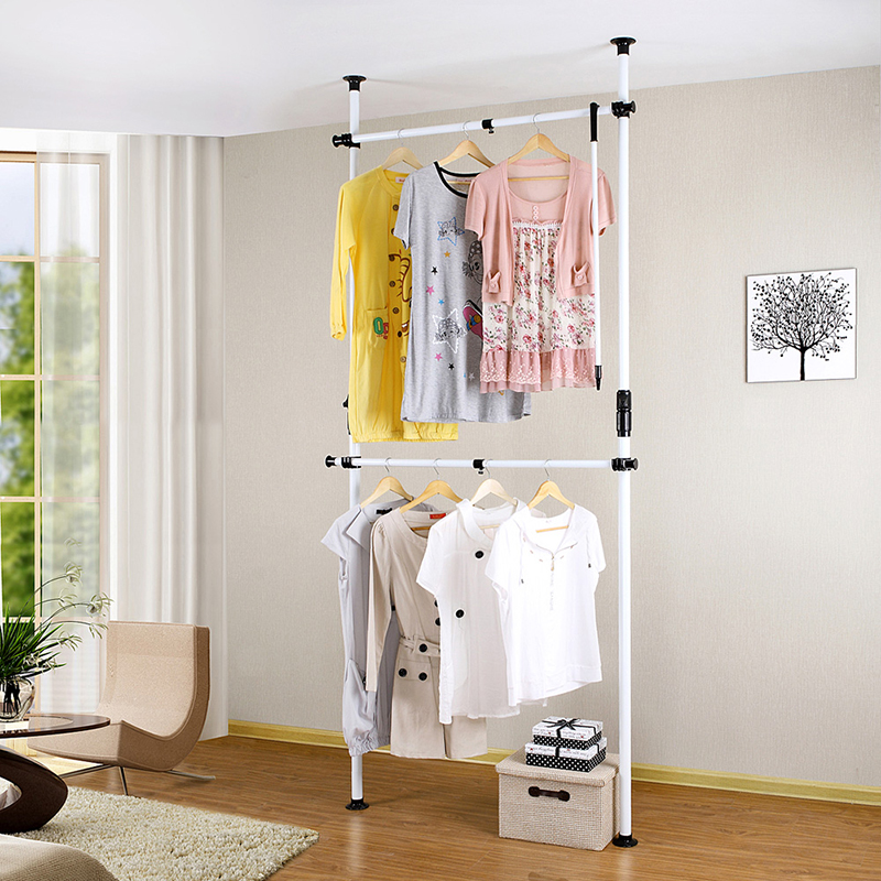 diy vertical two pole wardrobe ceiling standing coat clothes storage racks hangers buy folding clothes hanger rack wall clothes hanger