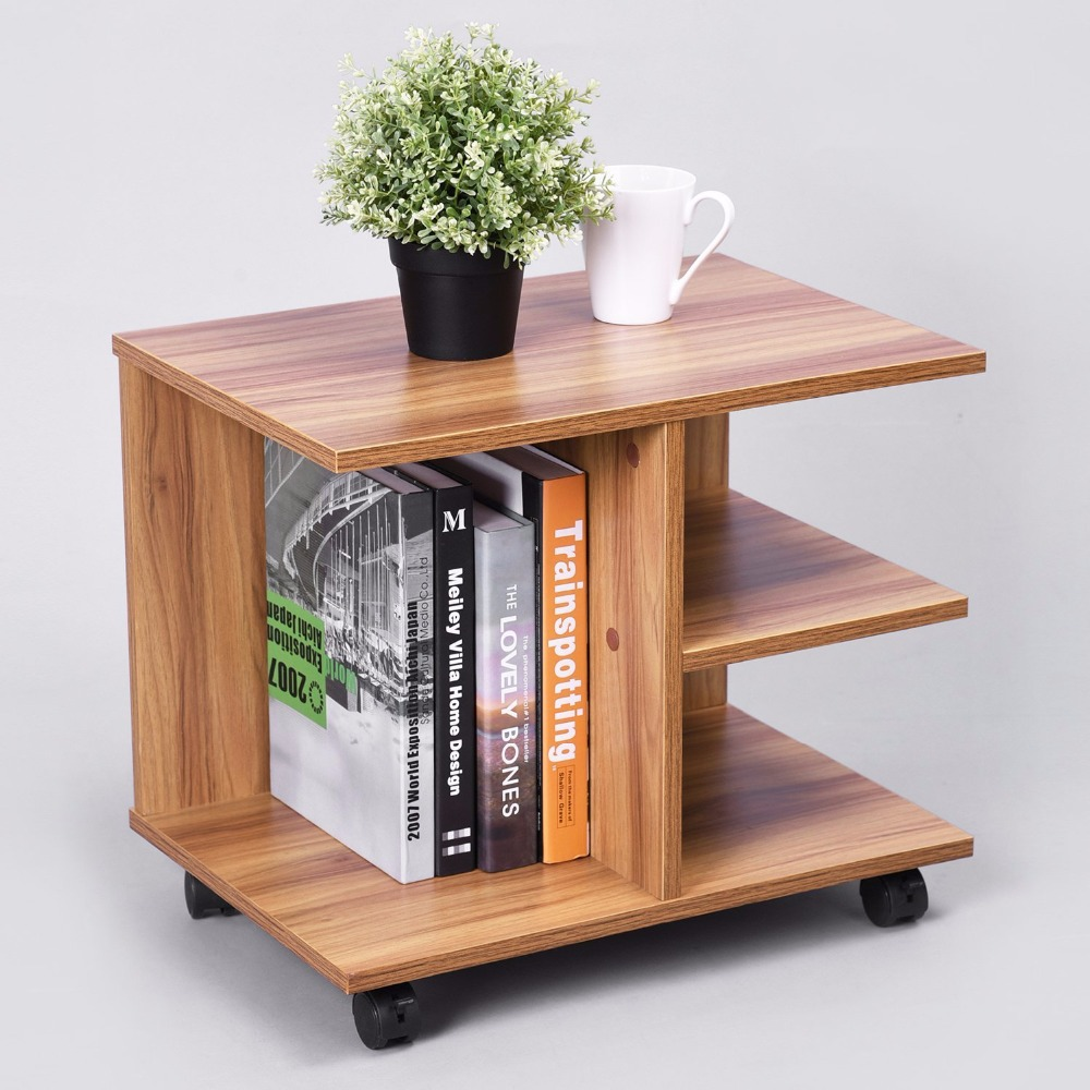 modern bedside end table nightstand with storage shelf and lockable wheel for bedroom buy modern coffee table coffee table with wheels modern