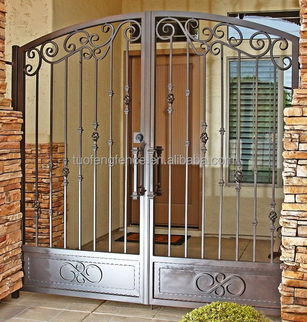 competitive price walk gates metal gate luxury stainless steel gate design with leave steel decorating buy security gate for patio doors pet