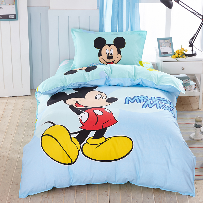 children cotton bedding set 3pcs quilt cover bed sheet pillow case mickey mouse design buy high quality minnie mouse bedding sets mickey mouse
