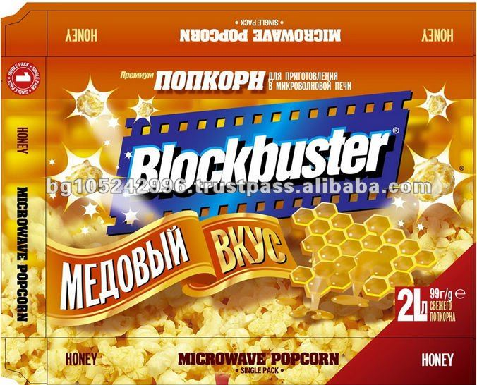 blockbuster snack food honey microwave popcorn buy microwave popcorn popcorn snacks food product on alibaba com