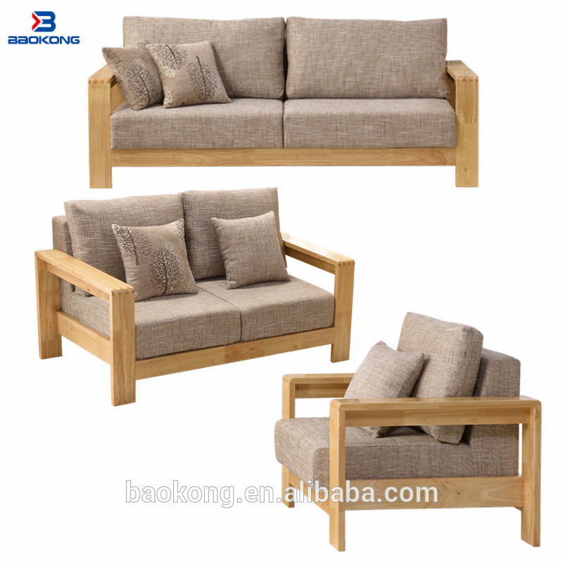 sklum ensemble de canape en bois et caoutchouc mobilier moderne avec siege rembourre en tissu buy ensemble de canape en bois massif ensemble de