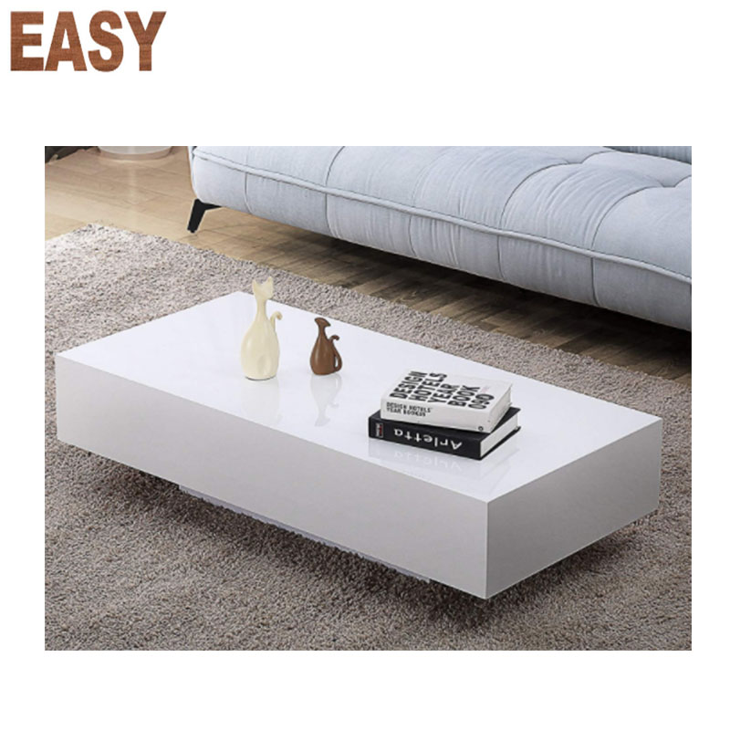 modern rectangle coffee table white high gloss coffee table with storage for living room home office furniture view modern rectangle coffee table