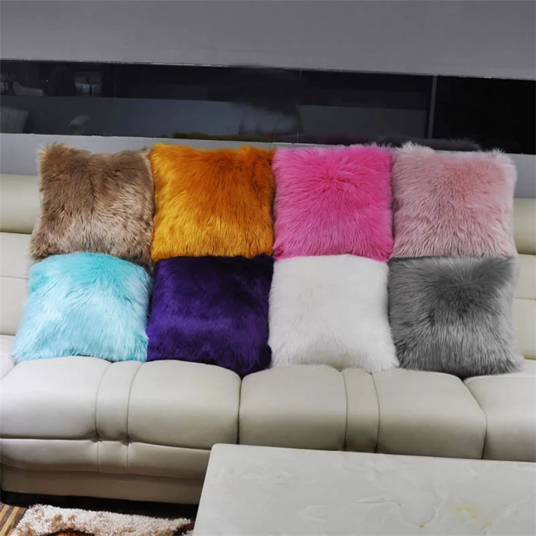 trendy square faux fur pillow cushion bolster long hair pillow covers sheepskin pillow cases buy decorative furry throw pillow cases long hair faux