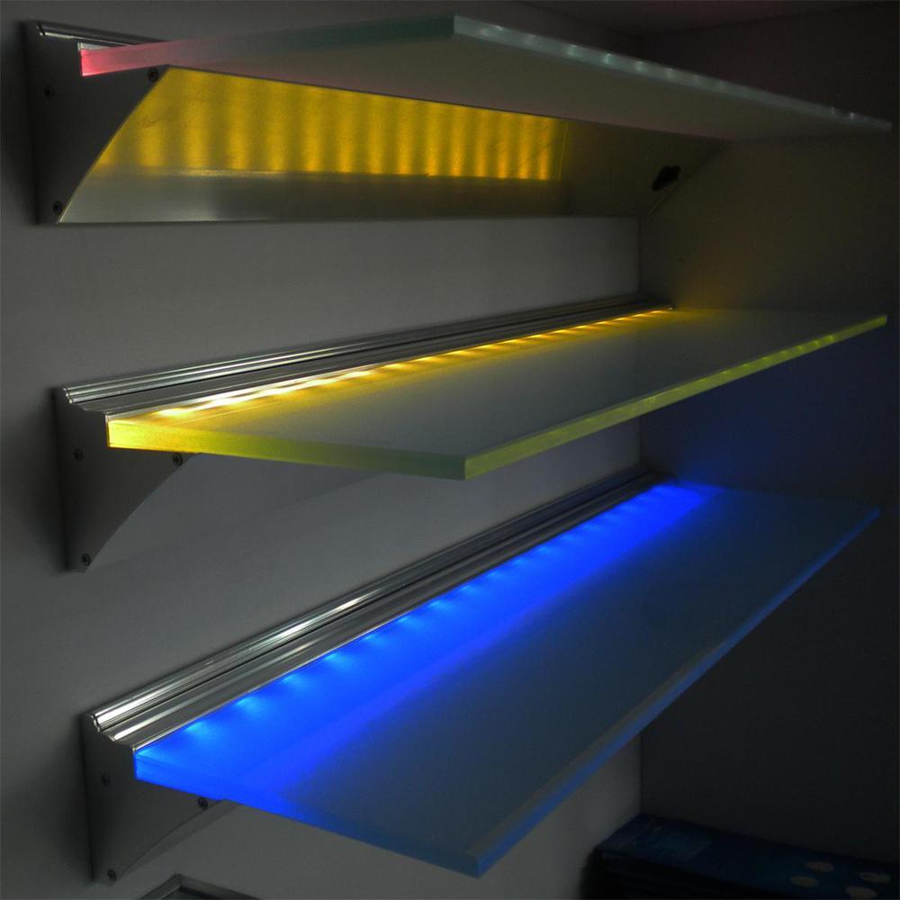 600 900 1200 mm led glass shelf light for showcase bookshelf wine cabinet 3w dc12v buy led glass shelf light battery led glass shelf glass shelves