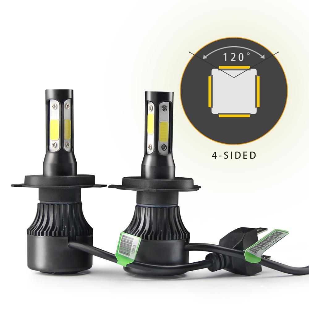 auto lighting system 10000 lumen led 4 sides auto 9007 9005 9006 h11 h7 headlight led h7 h4 car led headlight buy car led headlight h4 led