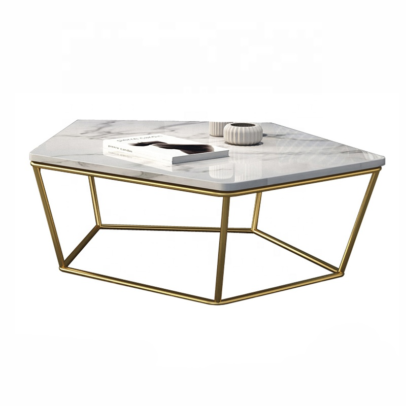 lc 1106 pentagon marble table top metal feet coffee table or sofa side table set 2 buy marble wood coffee table set 2 living marble table set marble