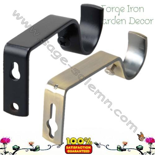 wrought iron curtain rod wall bracket buy metal curtain rod bracket adjustable curtain rod bracket tension curtain rods brackets product on