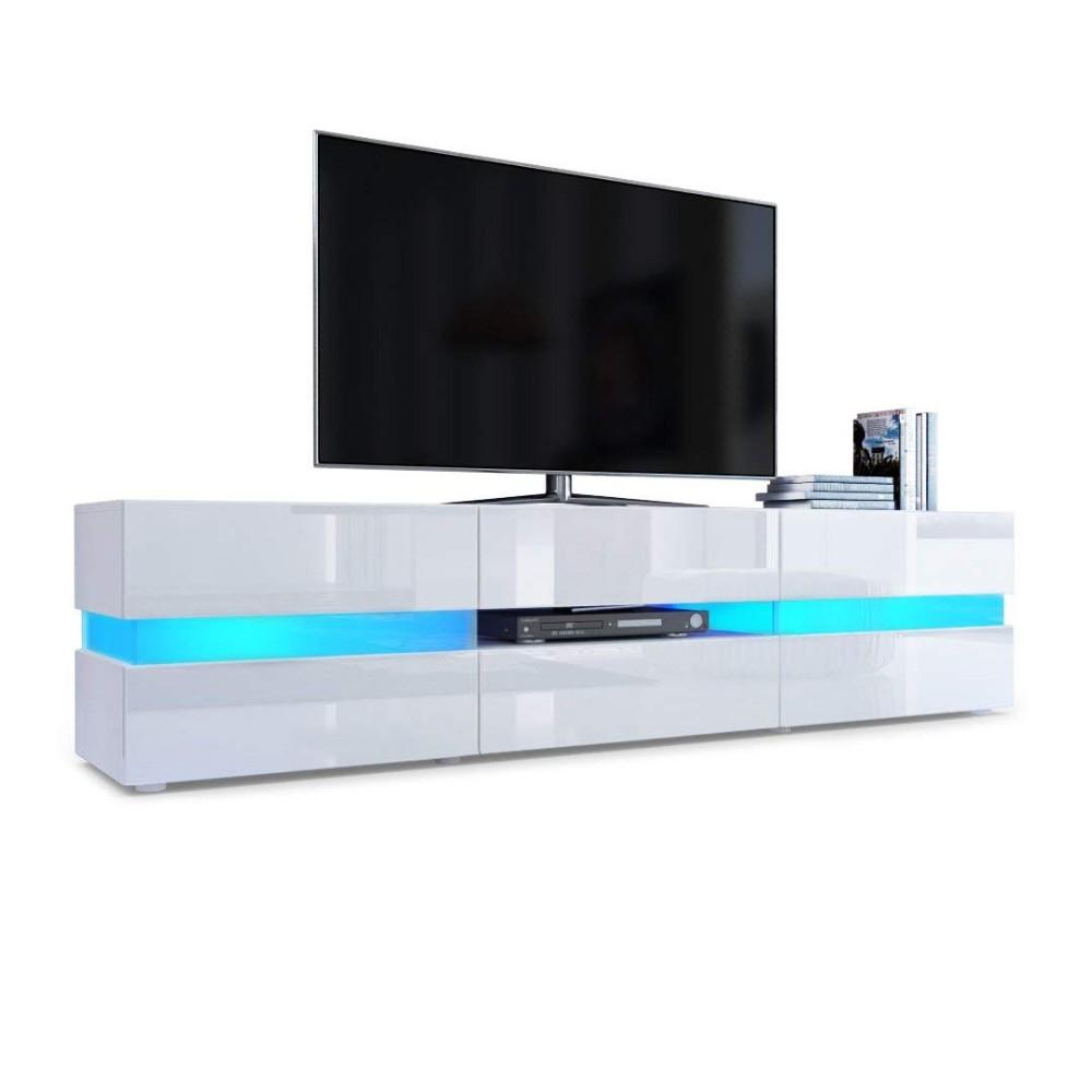 meuble tv a led blanc avec lumiere extra brillante haute qualite meubles de maison moderne buy meuble tv haute brillance avec lumiere led pour la