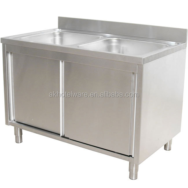 custom size zimbabwe kitchenware commercial stainless steel kitchen sink cabinet double bowl sink work table buy kitchen sink 304 stainless steel