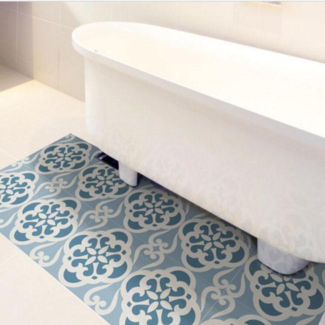 waterproof removable custom bathroom vinyl decal floor tile stickers buy floor stickers bathroom floor tile stickers vinyl decal floor stickers