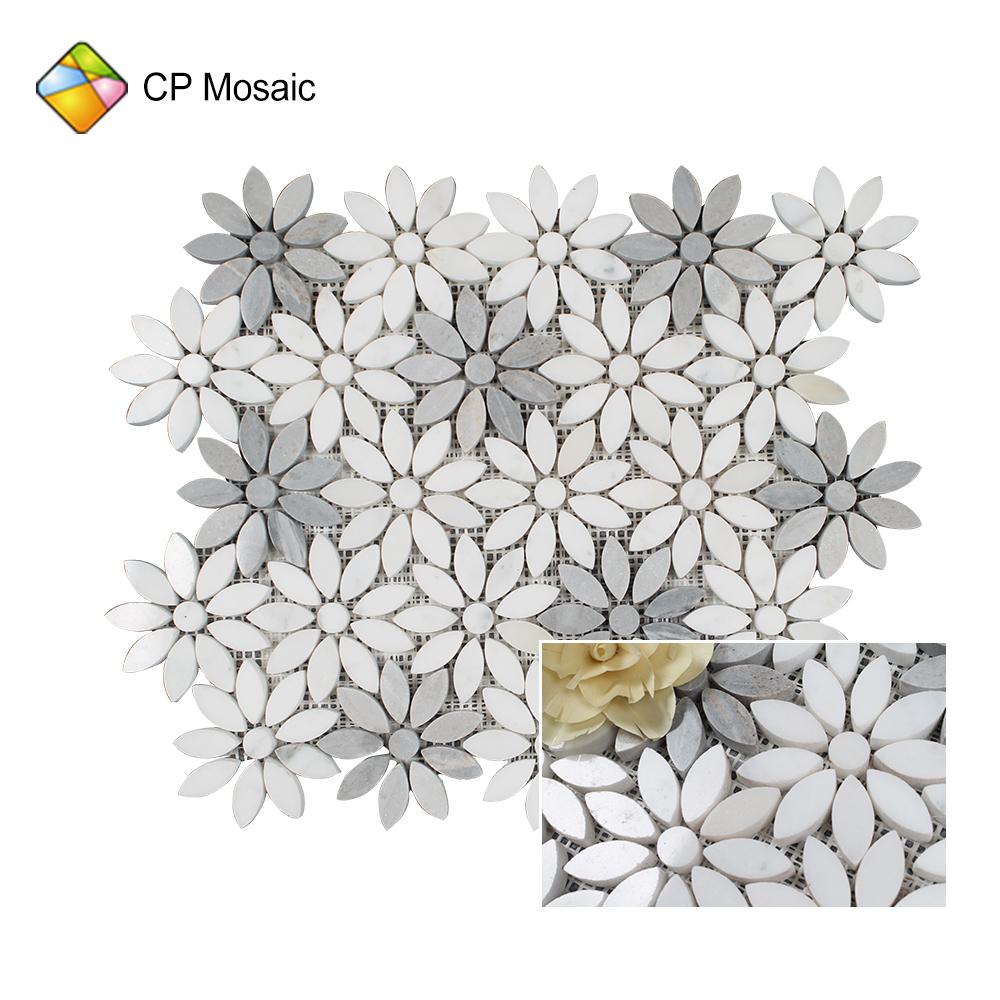 southeast philippines grey travertine moroccan flower fan mosaic art mural backsplash tile for sale buy moroccan mosaic tile mosaic mural flower