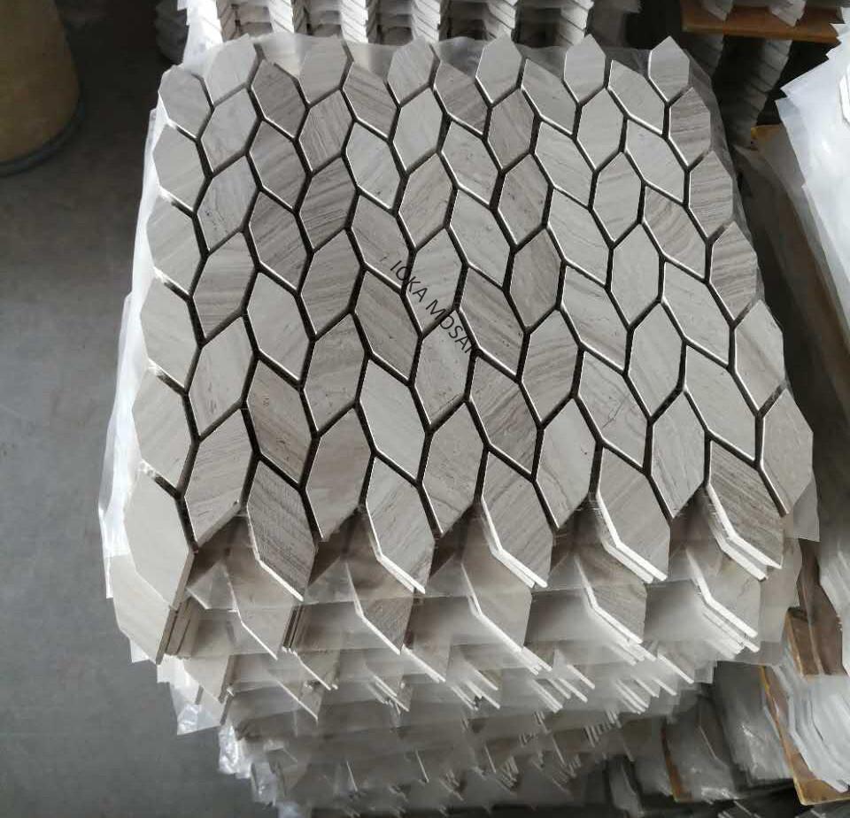 grey matt leaf design irregular shape marble mosaic tiles buy customized new coming leaf shape marble mosaic tile leaf shape matt mosaic tiles tree