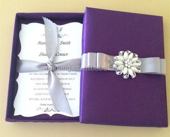 2018 simple purple bengali handmade wedding invitation card with different color ribbon buy simple wedding invitation handmade wedding invitation