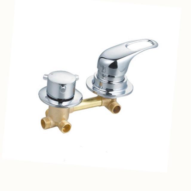 Brass Wall Mounted Bath Faucet Mixer 21 Way Shower Diverter Valve