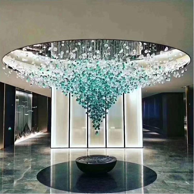 hotel entrance hall led crystal lighting green glass chandelier lighting pendant lamp buy chandelier lamp glass chandelier lighting modern glass