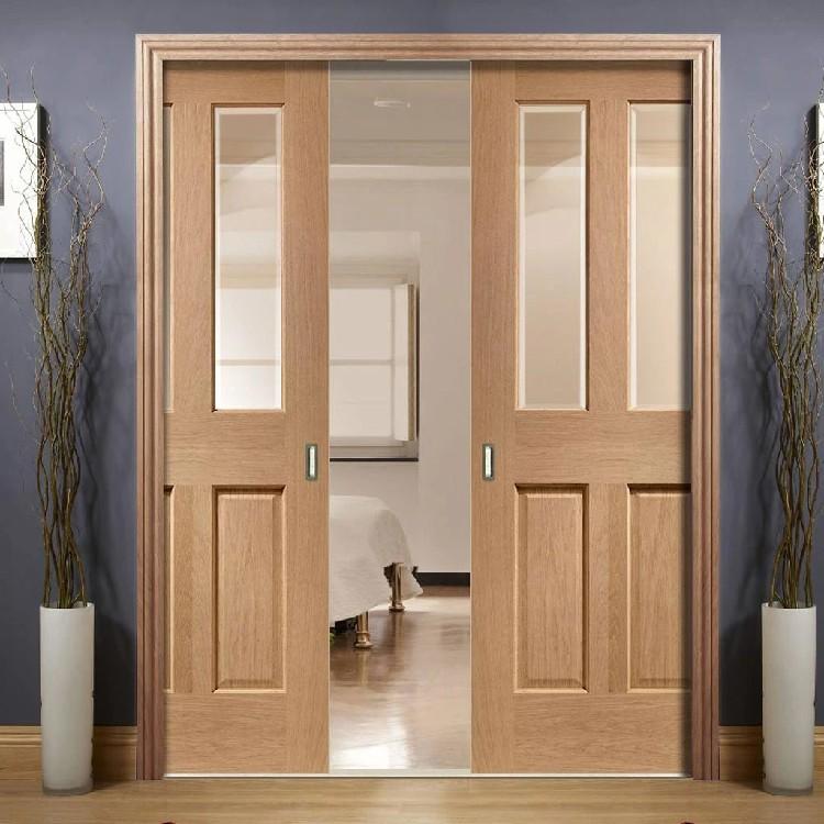 hs wps1 interior entrance solid wooden framed double pocket door system design oak wood sliding glass doors buy wood sliding glass doors wood frame