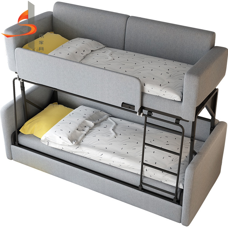 Double Bunk Sofa Bed 17 Super Cool Types Of Bunk Beds The Sleep Judge Loft Bed With Couch Modern Bunk Beds Bunk Beds With A Versatile Sofa Bed You Have