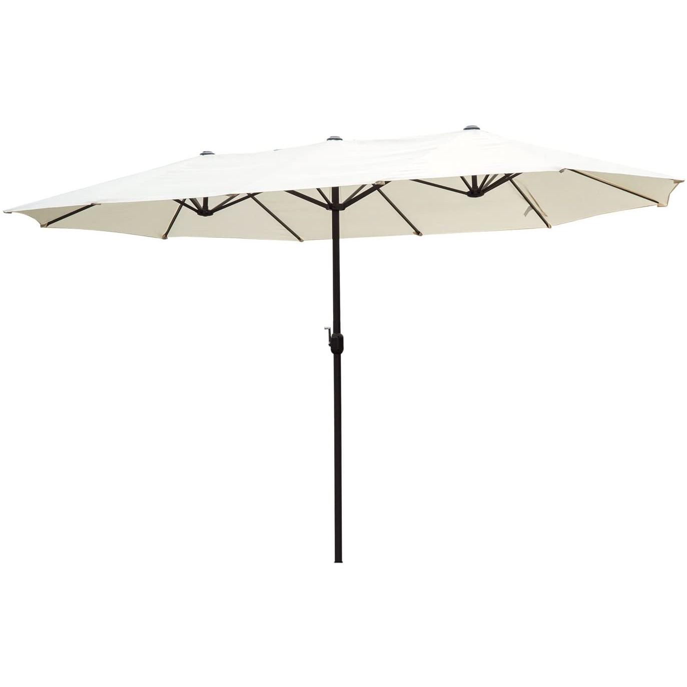 15 feet double canopy patio umbrella wide outdoor patio market umbrella double sided with crank uv resistant water proof buy outdoor garden patio