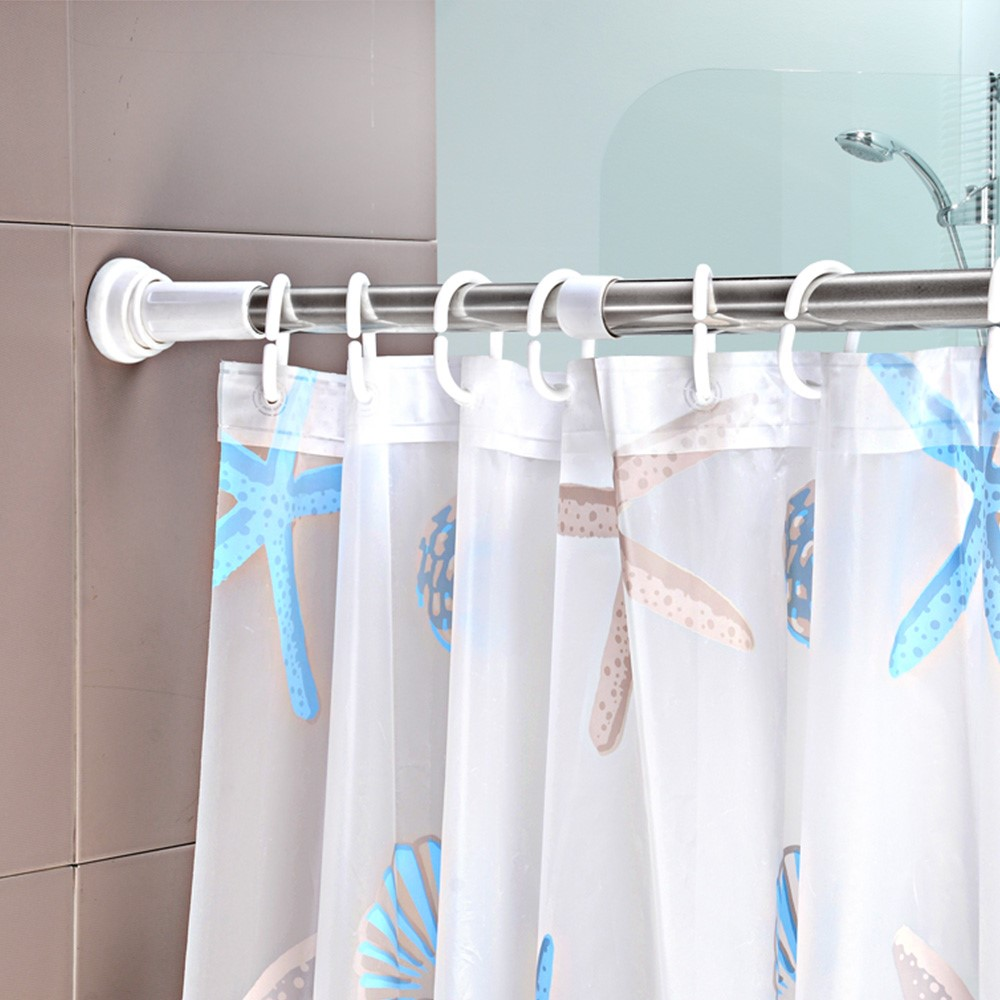 201 stainless steel shower curtain rod pole adjustable tension rods holder heavy duty 23 44 inches buy elastic shower curtain rod stainless steel shower curtain rod adjustable tension shower curtain rod product on alibaba com