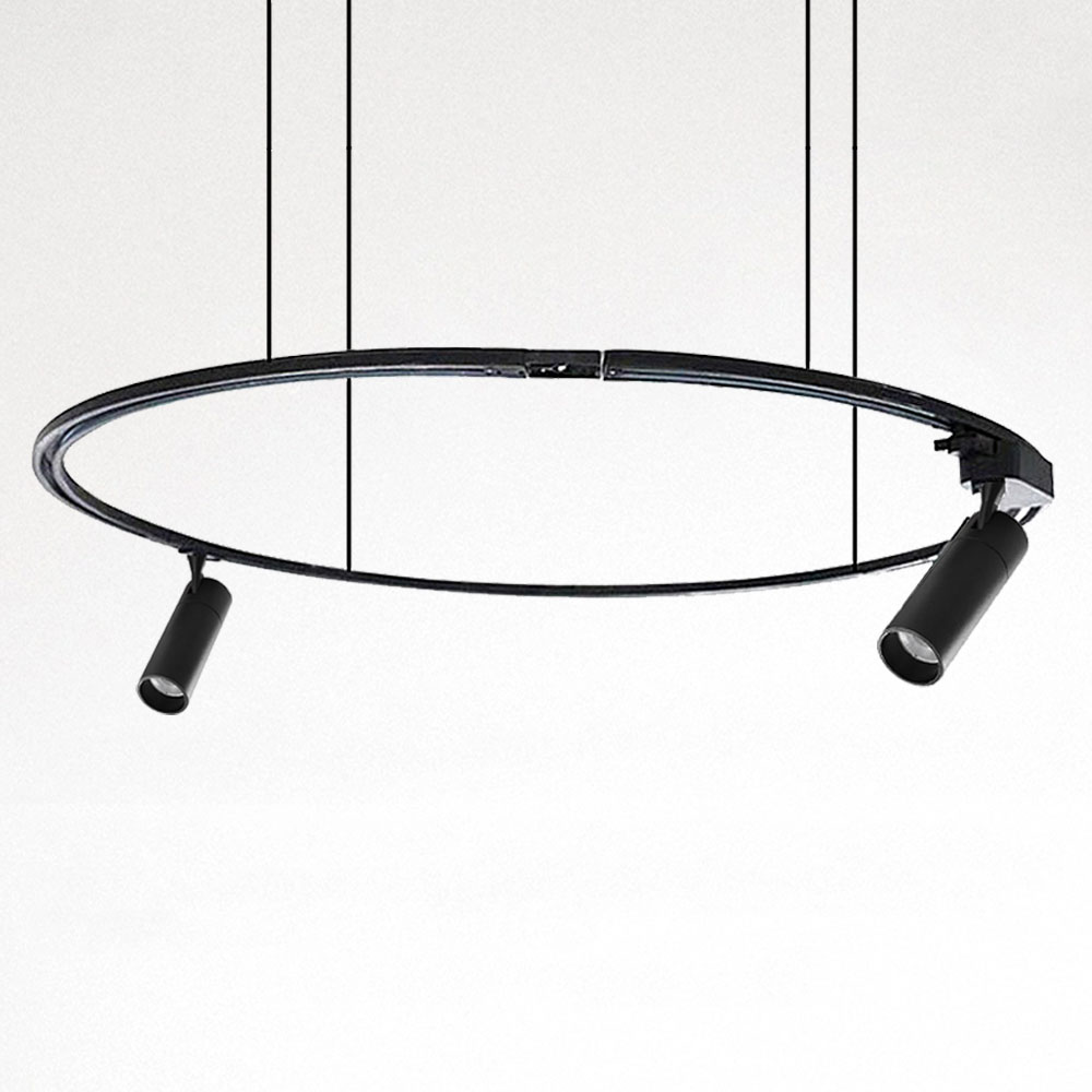2 wire bendable track rail led bended track bar round track lighting system buy light track rail single phase two wire energy meter track rail