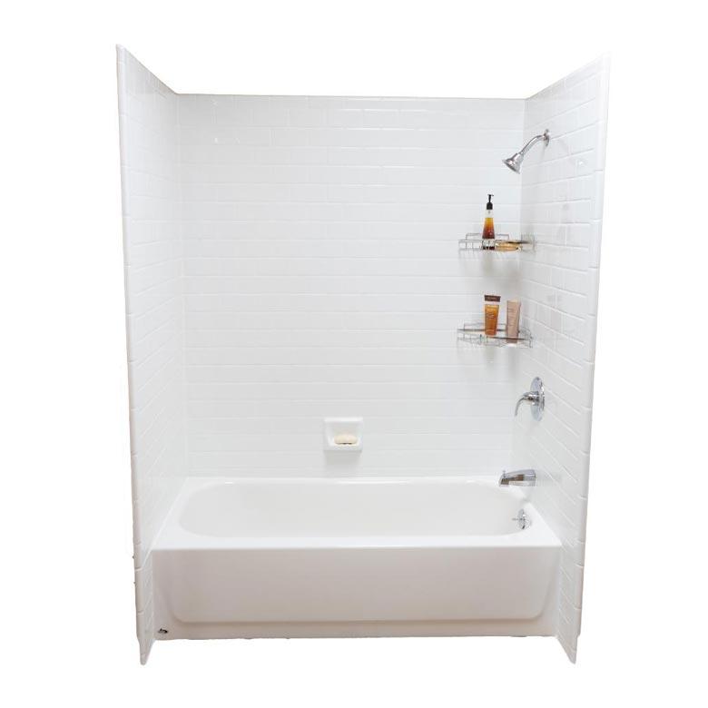 hotel bathroom shower wall panel pure white cultured marble prefab shower tub surround buy tub surround shower tub surround hotel tub surround