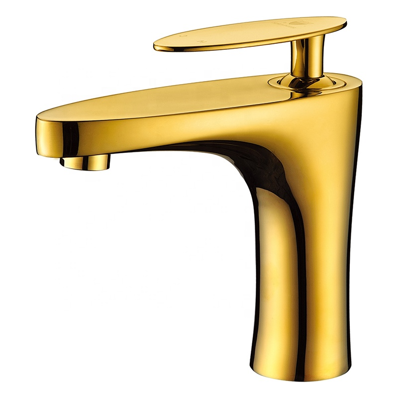 pvd gold solid brass single hole bathroom basin faucet buy bathroom faucet basin faucet brass faucet product on alibaba com