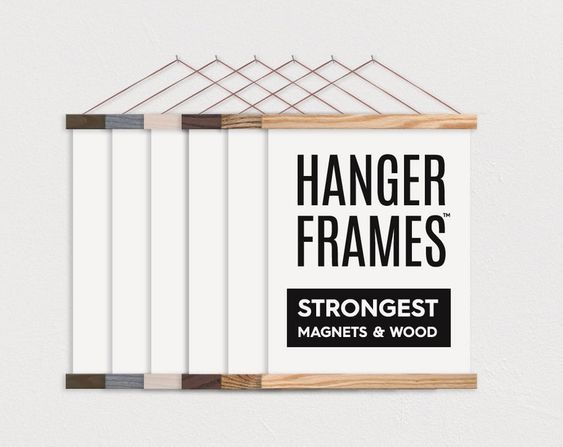 magnetic wooden poster hanger frame for wall art hanging decoration buy magnetic poster hanger poster frame picture frame wall hangers product on