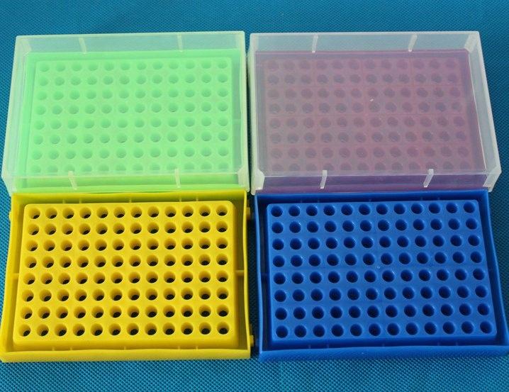 plastic 96 well 0 2ml microtube box pcr tube rack with lid for lab buy pcr tube rack pcr tube box microtube box product on alibaba com