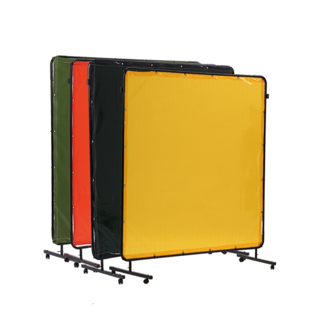 ap 5068 yellow high transparency welding curtain protection screen of pvc curtain with frame for safe work environment buy welding pvc curtain with ce en 25980 welding protection screen curtain welding screen product on