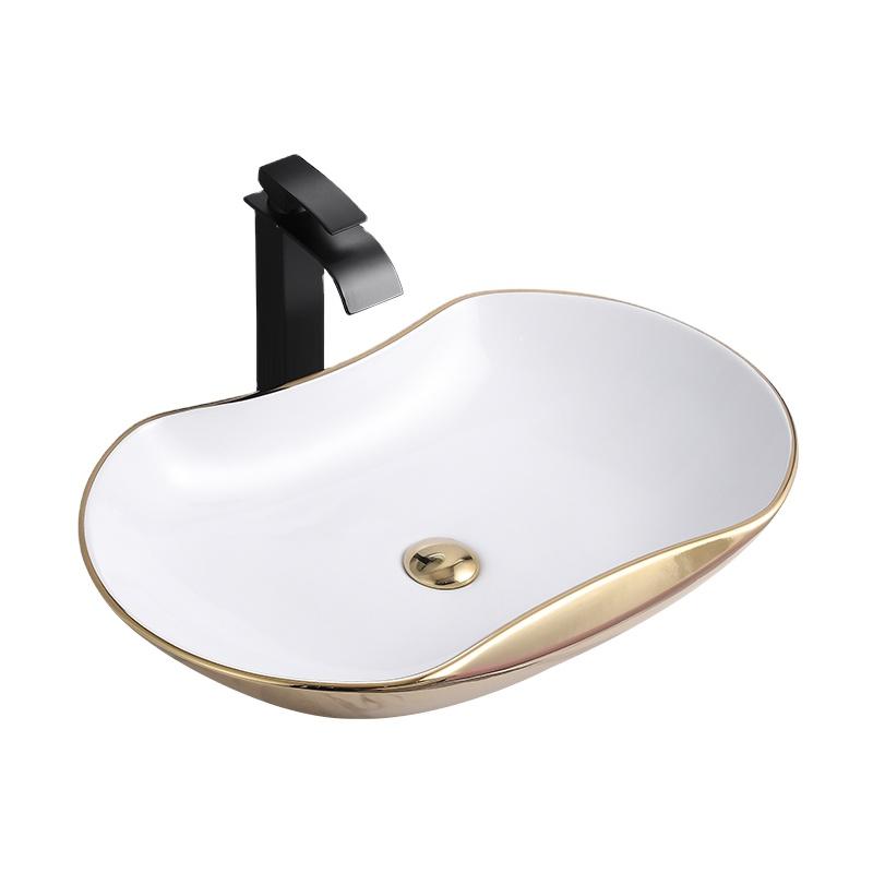 oval shape electroplated gold wash basin table top ceramic hand washing basin bowl buy bathroom sink porcelain bathroom sink custom wash basin