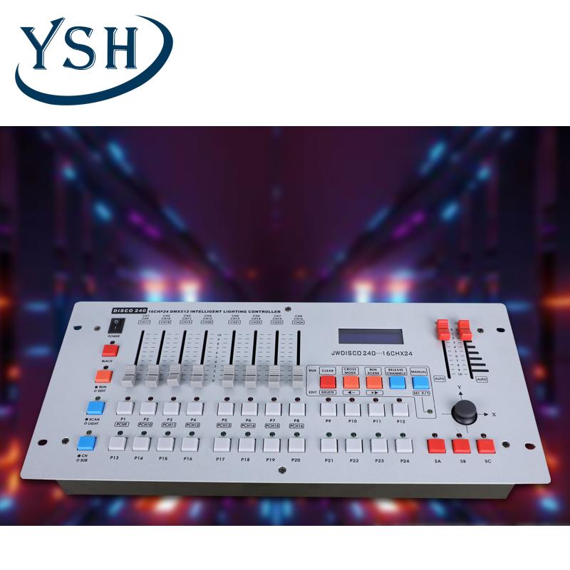 ysh stage lighting dj equipment dmx 240 console dmx dj lighting controller 16ch disco console for party ktv bar club dj dimmers buy 100 240v 16ch