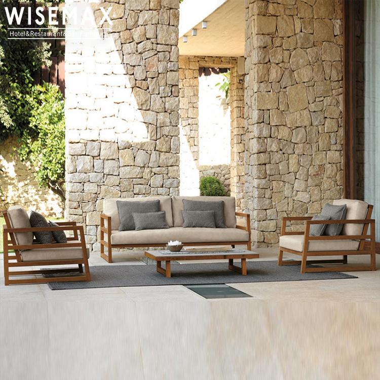 modern teak wood garden furniture waterproof fabric sectional wood outdoor sofa with coffee table set patio outdoor furniture buy outdoor patio